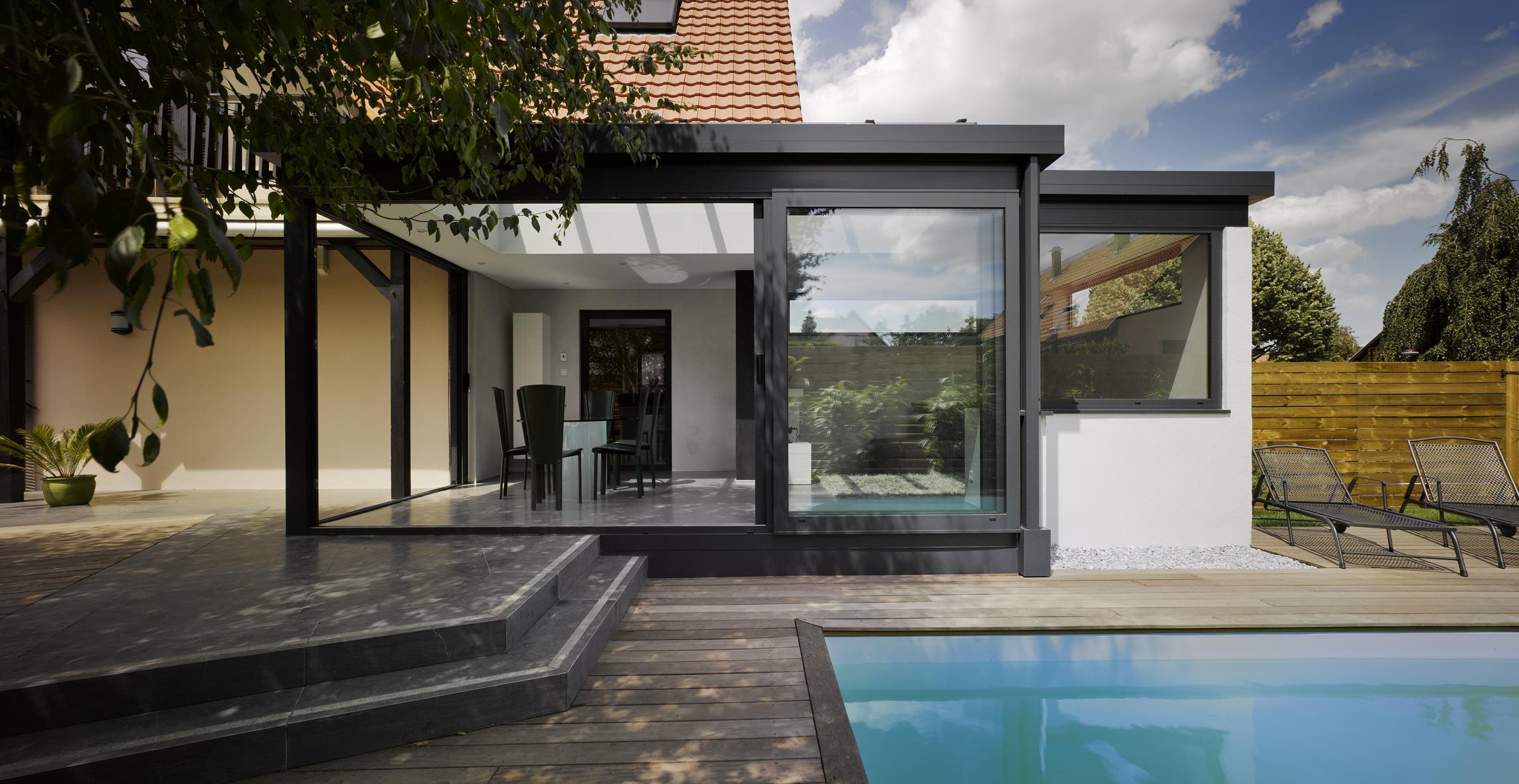 la veranda en appui veranda de france. Black Bedroom Furniture Sets. Home Design Ideas