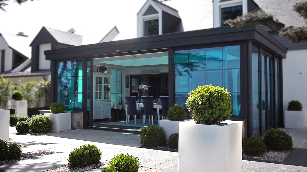 du r ve la r alit montage d 39 une v randa toiture plate veranda de france. Black Bedroom Furniture Sets. Home Design Ideas