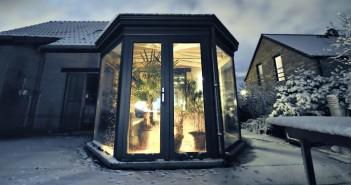 terasse et veranda sous la neige